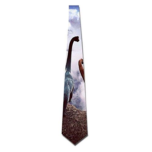 Couple Dinosaurs Men's Tie Fashion Neckties Necktie Neckwear Neckcloth Choker Neck 8CM by Hawaiian Waves
