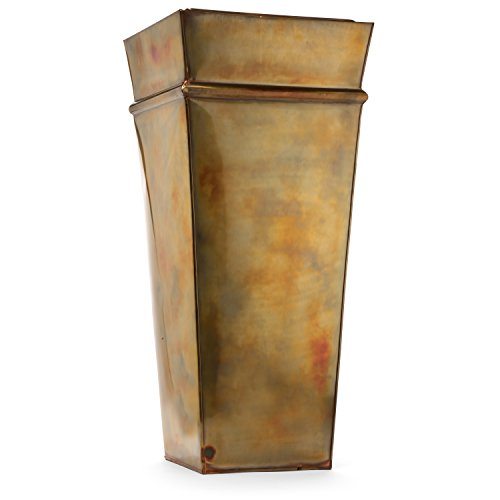 H Potter Planter Tall Rustic Indoor Outdoor Patio Deck Garden Flower Planters Container Rustic Copper Finish by H Potter