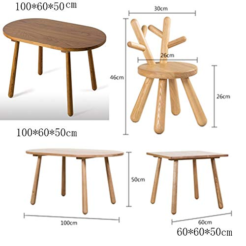 HUOQILIN rådjur trä stol hemma stol barnstol cartoon djur stol skor liten bank med ryggstöd att ändra (färg: E) H