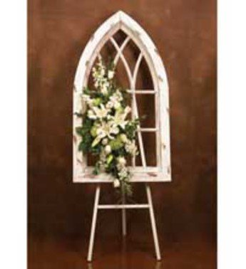 Napco Wood Gothic Cathedral Style Window Frame, White