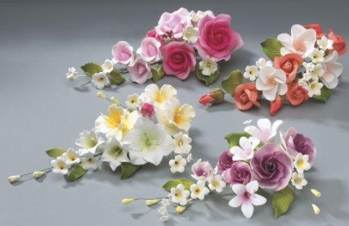 Flower Assortment Wedding in Gum Paste Cake - Gumpaste Wedding Cake