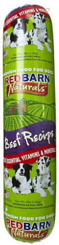 Red Barn Beef Dog Food Roll 4Lb