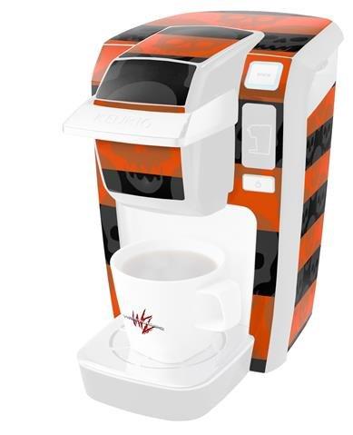 スカルストライプオレンジ – デカールスタイルビニールスキンKeurig k10 / k15 Mini Plusコーヒーメーカー( Keurigに含まれません   B0181DDM7K