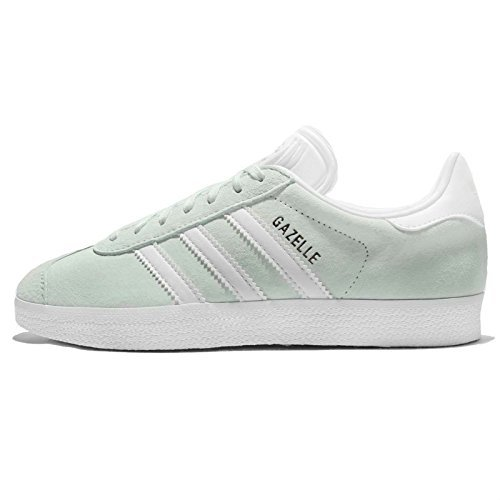 adidas Women's Gazelle W, ICE MINT/WHITE/GOLD, 6.5 US by adidas