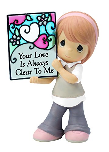Precious Moments,  Your Love Is Always Clear To Me Bisque Porcelain Figurine, 154054 (Bisque True Glass)