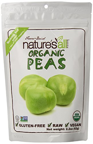 Natures All Foods Organic Freeze Dried Peas, 2.2 Ounce - 12 per case.