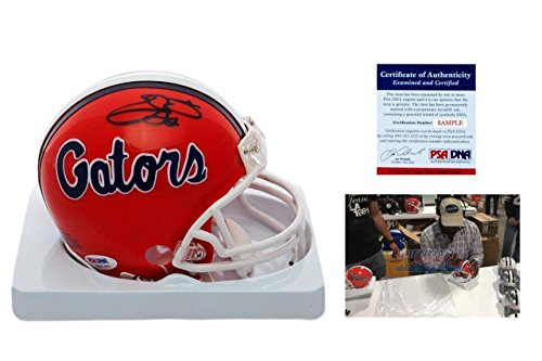Emmitt Smith SIGNED Florida Gators Mini-Helmet w/Photo - Autographed - PSA/DNA Certified - Autographed College Mini Helmets ()