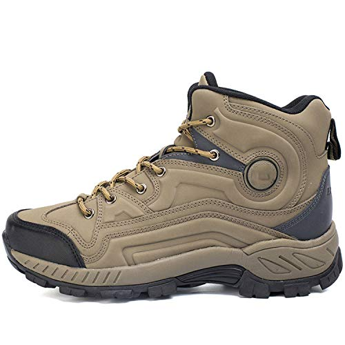 HANBINGPO New Typical Style Men Hiking Shoes High-Cut Sport Shoes Outdoor Jogging Athletic Shoes Comfortable Sneakers,Camel,8.5