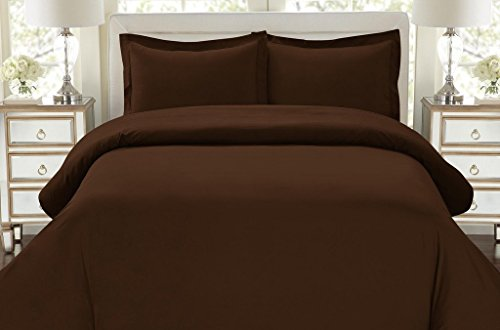 Hotel Luxury 3pc Duvet Cover Set-ON SALE TODAY-1500 Thread Count Egyptian Quality Ultra Silky Soft Top Quality Premium Bedding Collection, 100% -King Size Brown (Comforters On Sale)