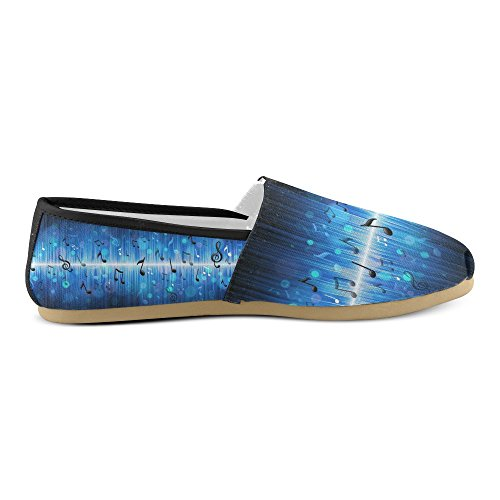 D-story Zapatillas De Moda Flats Sea Wave Mujeres Classic Slip-on Zapatos De Lona Mocasines Multi16