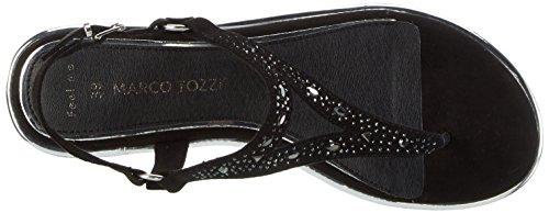 Tozzi 001 Black Marco Femme Sandales Noir 28108 gwUU1qR