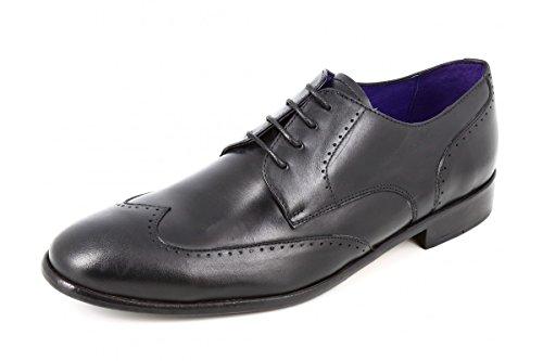 belym Chaussures Hommes de Ville en Cuir Noir