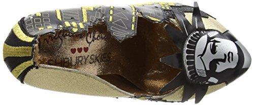 Irregular Choice New York, Scarpe Col Tacco Donna Black (Black/Gold)