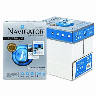 Grupo Portucel Soporcel. Navigator NPL11245R Multipurpose Paper - Platnium Office Letter 8.5 x 11 24lb Smooth 99% Brightness 500 x Sheet White -