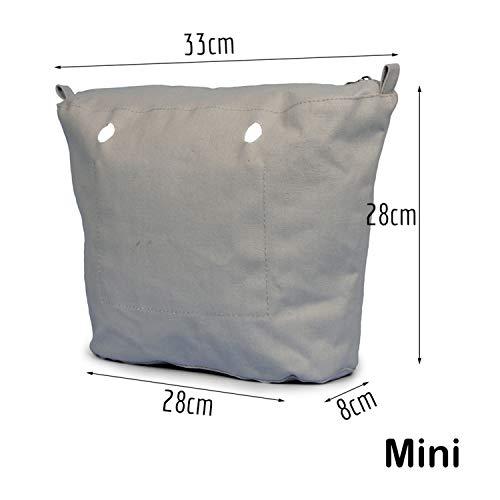 Insertion Zippée Avec Doublure O Obag Imperméable Sac Toile De Pour Constructs Intérieure Intérieur Revêtement Purple Poche Mini SFYwvvtqx