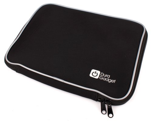 DURAGADGET Sleek Black Water Resistant Neoprene Protective Laptop Sleeve for Gateway 17.3
