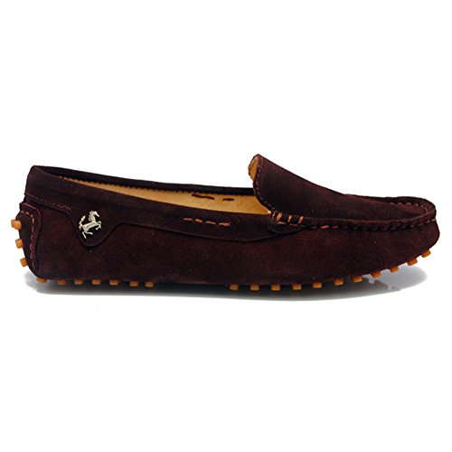 Driving Womens Boat On Trail Comfortable Flats TDA Loafers Shoes Brown Running Slip Walking wEYdWz