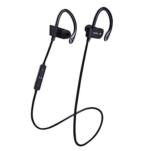 Beyda NEW Bluetooth headset headphone, mini on-ear wireless anti-sweat sports headset headphone with microphone,noise reduction perfect for exercise,running,iPhone.iPad,Android phones (Black1)