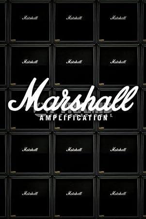 Marshall amplication amplificadores de Guitarra Grande música Publicidad Póster 61 por 91,5 cm: Amazon.es: Hogar