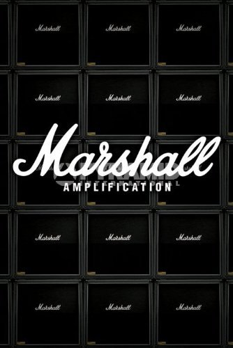 Marshall Amplication Guitar Amps Large Music Advertising Art Poster 61 by 91.5cm by ElitePosters