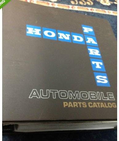 1990 1991 1992 1993 Honda ACCORD 4DR Parts Catalog Shop Manual FACTORY BINDER