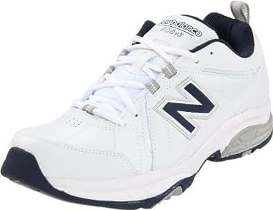 New Balance Men's MX608V3 Cross-Training Shoe,White/Navy,6.5 4E US