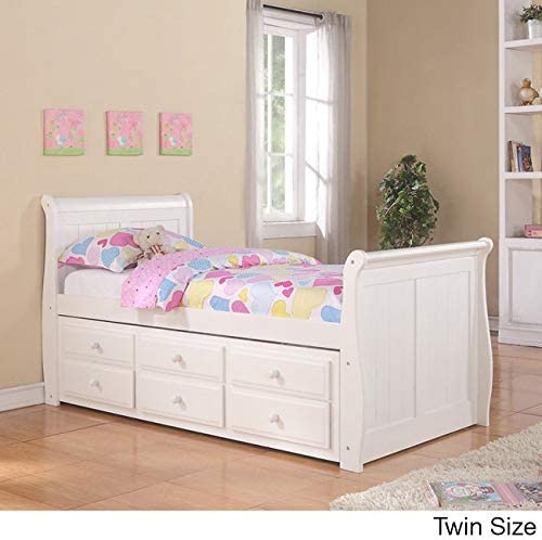 10. Donco Kids Sleigh Twin Captains Bed