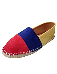 Women's Flats Shoes Fashion Loafer Casual Retro Mixed Colors Slip On Lazy Sneakers