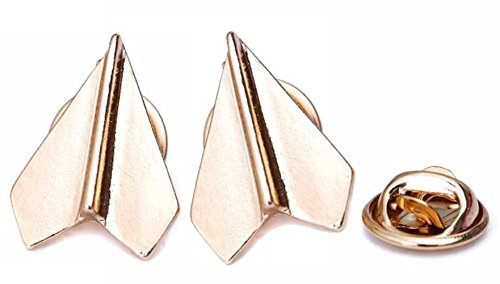 Brand New Set of 2 Platinum Plated Paper Airplane Origami Brooch Lapel Pins - Download Sunglasses Software