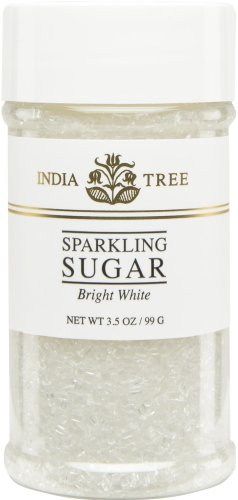 Sugar Topping Muffins - India Tree Bright White Sugar Sprinkles 10213,3.5 OZ