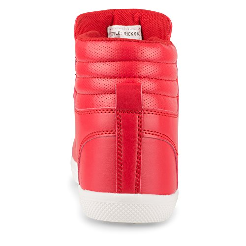 Top Influence Rick High Influence Mens Mens Top High Rick 2 Sneakers Fashion Red gY8Rgr