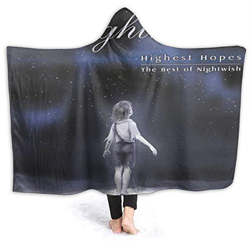 KarlMRush Nightwish Highest Hopes Blanket,Sofa Blanket,Super Soft,Suitable for All Seasons,Hooded Blanket (Highest Hopes The Best Of Nightwish)