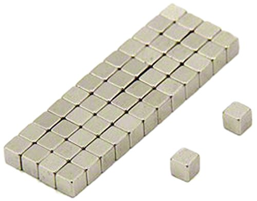 Pack of 50 0.28kg Pull Magnet Expert 3 x 3 x 3mm thick N35 Neodymium Magnet
