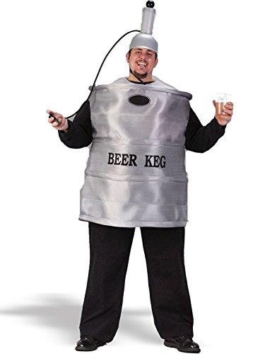 Beer Keg Costume, White, Up to (Keg Beer Costume)