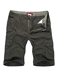 CATERTO Men's Active Cargo Shorts Cotton Outdoor Wear Lightweight