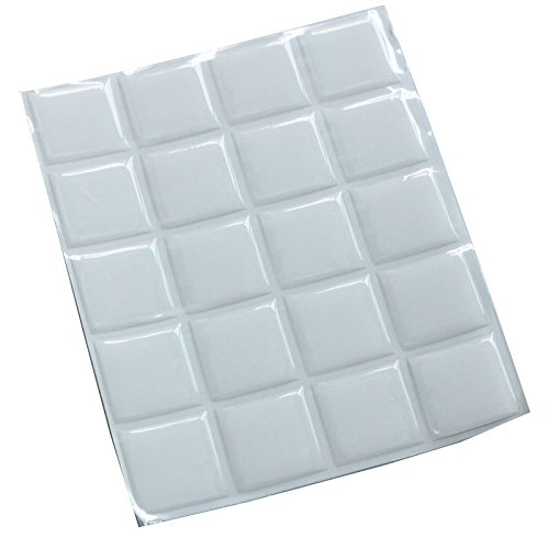 IGOGO 100 Pieces Clear Square Epoxy Stickers 1 Inch -Fits Scrabble Tiles or Pendants