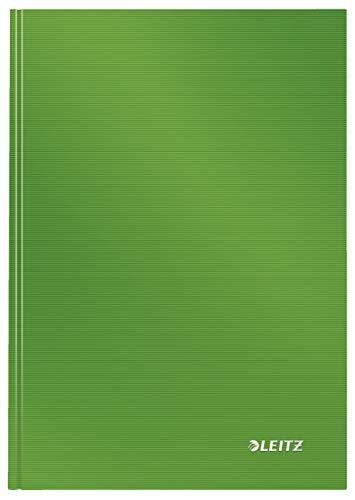 Leitz Cuaderno A5 de tapa rígida, 80 hojas, Cuadriculado, Sólido, Verde lima, 46660050