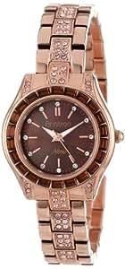 Armitron Women's 75/5053BMRG Topaz Color Swarovski Crystal Accented Rose Gold-Tone Bracelet Watch