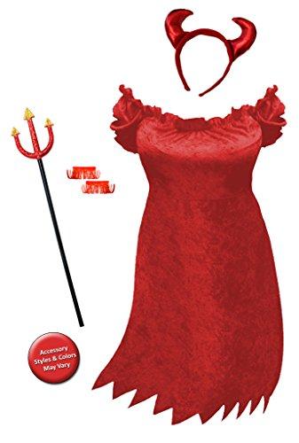 Sanctuarie Sexy Red Devil Plus Size Supersize Halloween Costume Basic Kit 1x