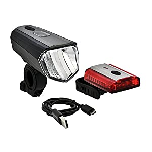 Büchel Sky Valley 100/70/40/10 Lux, Pantalla LCD LED de batería Leuchten Set, Negro/metálico, One Size