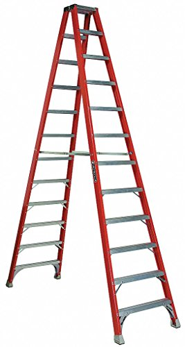 Louisville Ladder FM1512 Fiberglass Twin Front Ladder, 12-Feet, 300-Pound Duty Rating