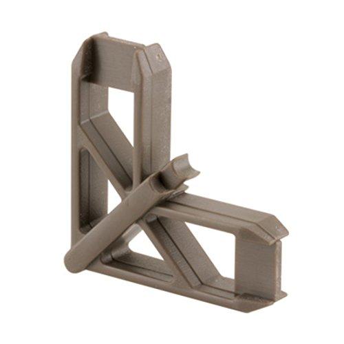 """CRL Bronze Andersen 1"""" x 7/16"""" Plastic Screen Frame Corner 20/PK"""