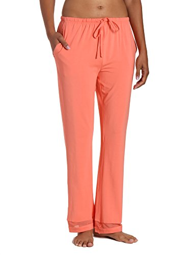 Womens Eco-PJ Bamboo Lounge Pant - Coral - Large