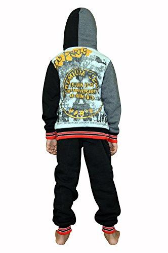 f016e8314 SKYLINEWEARS Kids Boys Sweatsuit Tracksuit Hooded Two Piece Set Eifel Black  6