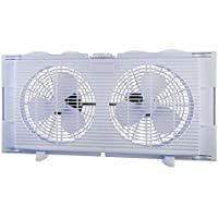 High Velocity 2-in-1 Double Window Fan Horizontal Vertical Fit Energy Efficient