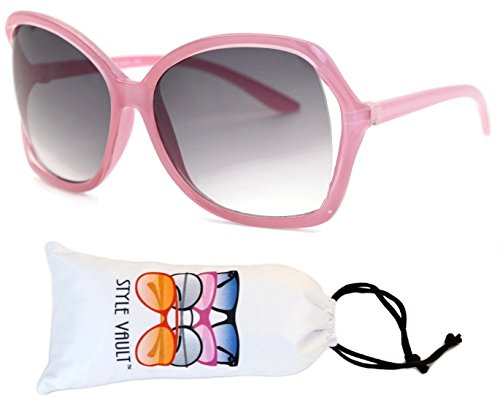 Kd225-VP Kids Children (2~8yr) Oversized Retro Sunglasses (R2673P Pink-smoked, - Glasses New Girl Style