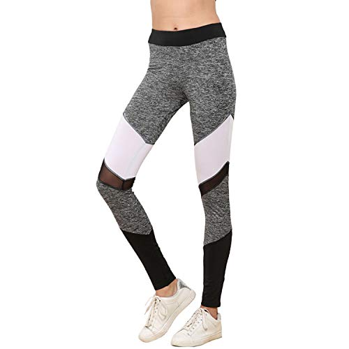 Mesh Leggings Women Workout Patchwork Leggins Sporting Polyester Leggings Pants]()