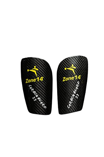 Carbon Carbon Fiber Shin Guard (Zone 14 Carbon Guard 33, X-Small)