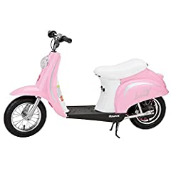 If your child has a need for speed (no worries, only up to 15 mph), then this pink Razor Pocket Mod Miniature Electric Scooter will give your child a thrill ride. The Razor Pocket Mod gives every kid with an eye for style and passion for fun ...