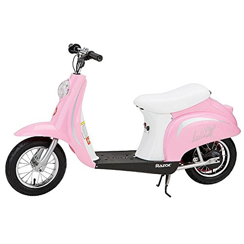 Razor Pocket Mod Miniature Euro 24V Electric Retro Scooter, Pink | 15130610 - Euro Motorcycle